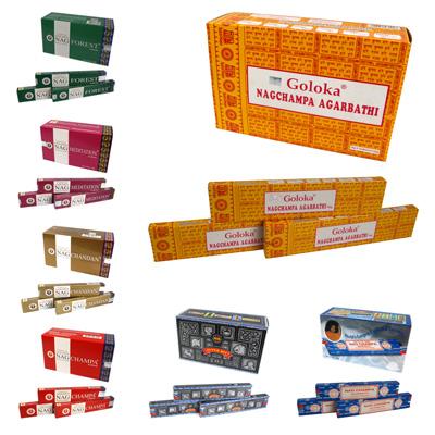 Beliebte, indische, handgerollte Räucherstäbchen in verschiedenen Aromen