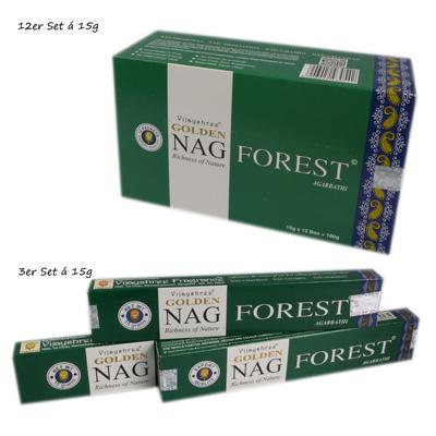 12er Set Räucherstäbchen Golden Nag Forest