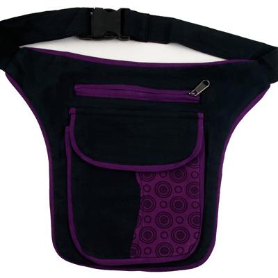 NEU-Top-moderne-Guerteltasche-Hip-Bag-Seitentasche-Huefttasche-im-70er-Retro-Look