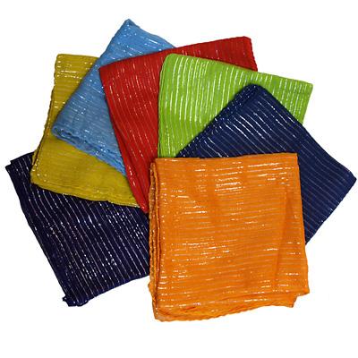 Halstuch mit Glitzerstreifen in verschiedenen Farben