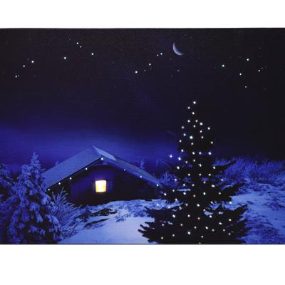 led leinwandbild dekoration weihnachtsbild winterbild. Black Bedroom Furniture Sets. Home Design Ideas